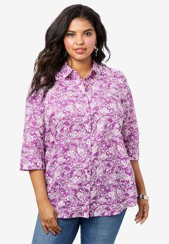 Three-Quarter Sleeve Kate Bigshirt,