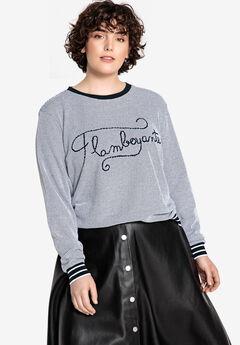 Embroidered Textured Sweatshirt Castaluna ,