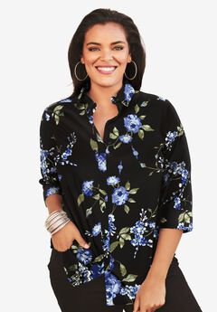 Three-Quarter Sleeve Kate Bigshirt,