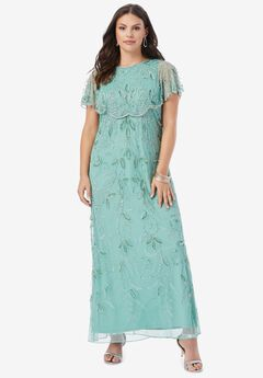 Glam Maxi Dress, DUSTY MINT