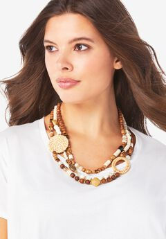 Beaded Layered Necklace,