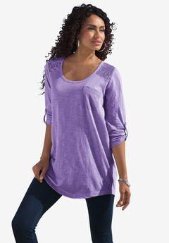 Cotton Slub Lace Tunic,