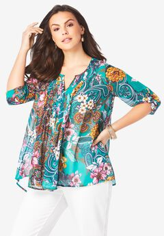 Tara Pleated Big Shirt,