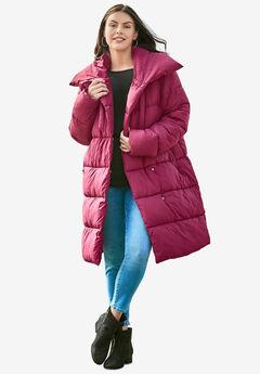 High Collar Puffer Coat,