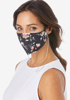 Metallic Face Mask Chain, SILVER