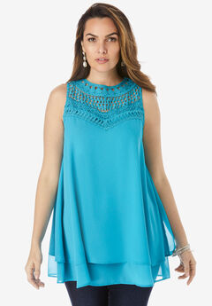 Lace Yoke Top,