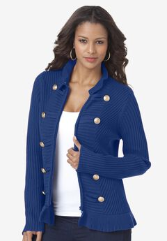 Military Cardigan, TWILIGHT BLUE