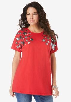Embellished Tunic with Side Slits,