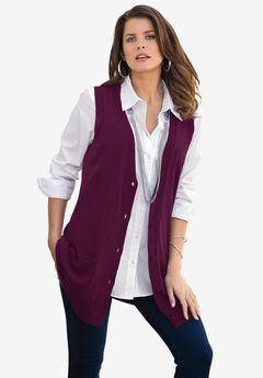 Fine Gauge Drop Needle Sweater Vest,