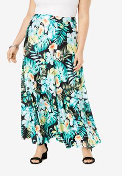 Ultra Smooth Maxi Skirt, AQUA ISLAND LIFE