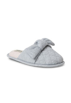 Nora Striped Scuff With Knot Slippers,