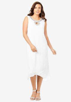 Embellished High-Low Dress,