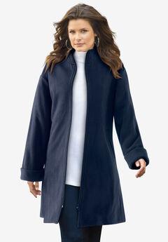 Plush Fleece Driving Coat,