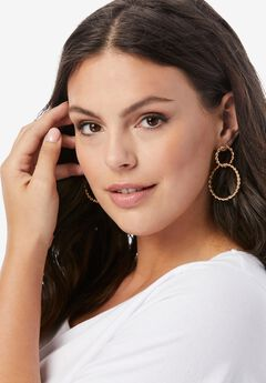 Twisted Double-Circle Earrings,