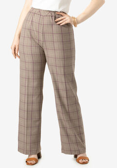 Wide-Leg Bend Over® Pant, BEIGE PLAID