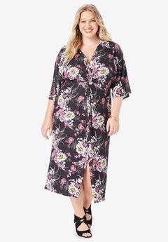 Twist-Front Sheath Dress,