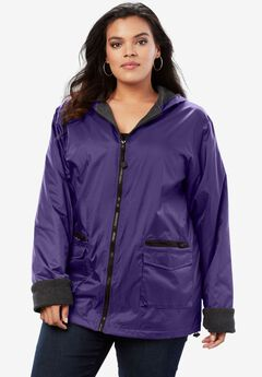 Hooded Jacket with Fleece Lining, MIDNIGHT VIOLET