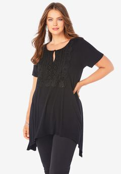 Lace-Front Top,