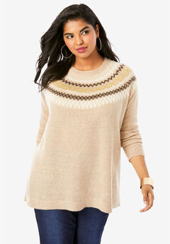Fair Isle Pullover Sweater,