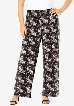 Ultrasmooth® Wide-Leg Pant, PEONY FLORAL