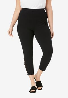 Lattice Essential Stretch Capri Legging,