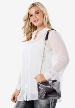 Velvet Crossbody Bag, SILVER