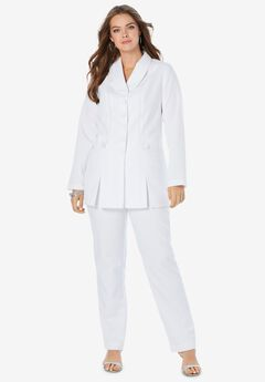 Ten-Button Pantsuit,