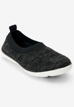 The Nova Sneaker by Comfortview®, BLACK