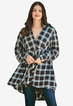 Plaid Fit-And-Flare Tunic,