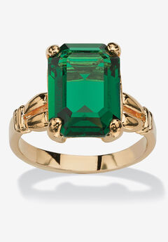 Yellow Gold Plated Simulated Birthstone Ring,