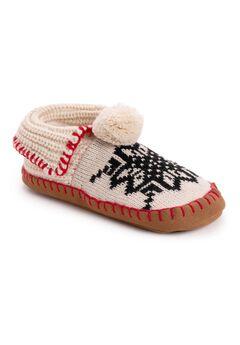 Knit Moccasin Slipper,