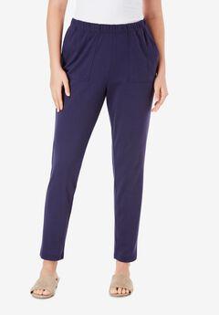 Ankle-Length Soft Knit Pant,
