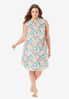 Sleeveless Kate Shirtdress with Pockets,