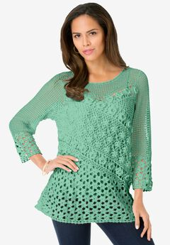 Floral Crochet Sweater,