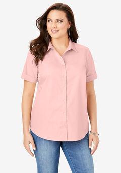 Short-Sleeve Kate Big Shirt, SOFT BLUSH