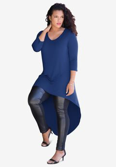 Curved Drape Tunic,