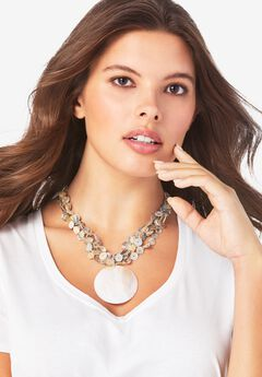 Shell Medallion Necklace,