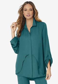 Georgette Overlay Big Shirt,