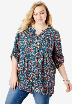 English Floral Big Shirt, HUNTER WATERCOLOR FLORAL