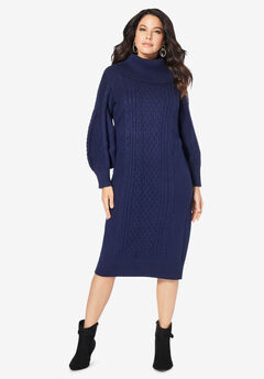 Turtleneck Sweater Dress,