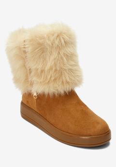 The Shai Wide Calf Boot , TAN