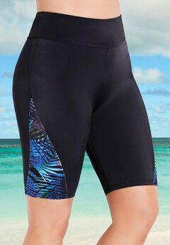 Chlorine Resistant Lycra Xtra Life Printed Swim Bike Short,