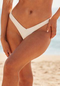 Camille Kostek 90's Baby Thong Bikini Bottom, PEARL