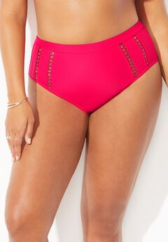 Crusader Lattice High Waist Bikini Bottom,