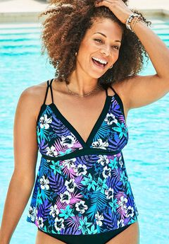Loop Strap Tankini Top,