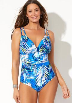Loop Strap One Piece Swimsuit,