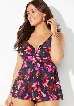 Bra Sized Sweetheart Underwire Tankini Top,