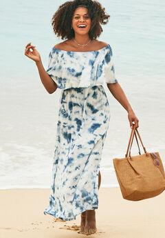 Portia Bandeau Cover Up Maxi Dress,