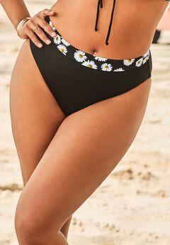 Ashley Graham High Waist Bikini Bottom, DAISY