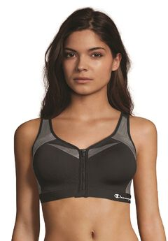 Champion® Motion Control Zip Sports Bra,